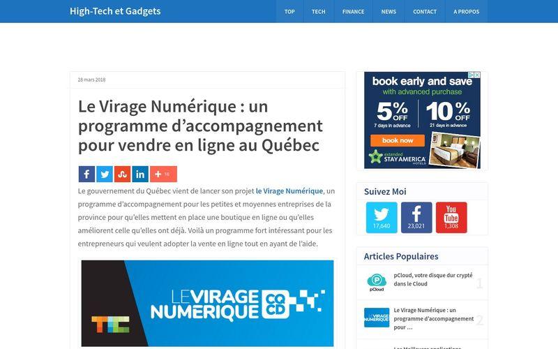Le Virage Numérique : un programme d'accompagnement pour vendre en ligne au Québec (Vincent Abry)
