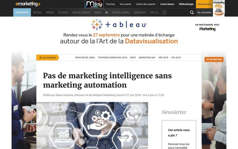 E-marketing : Pas de marketing intelligence sans marketing automation