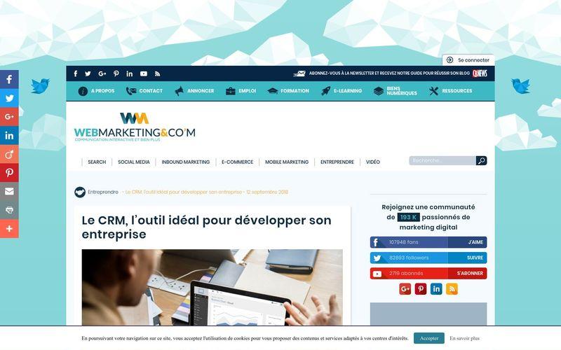 Webmarketing & co'm : Le CRM, l'outil idéal pour développer son entreprise